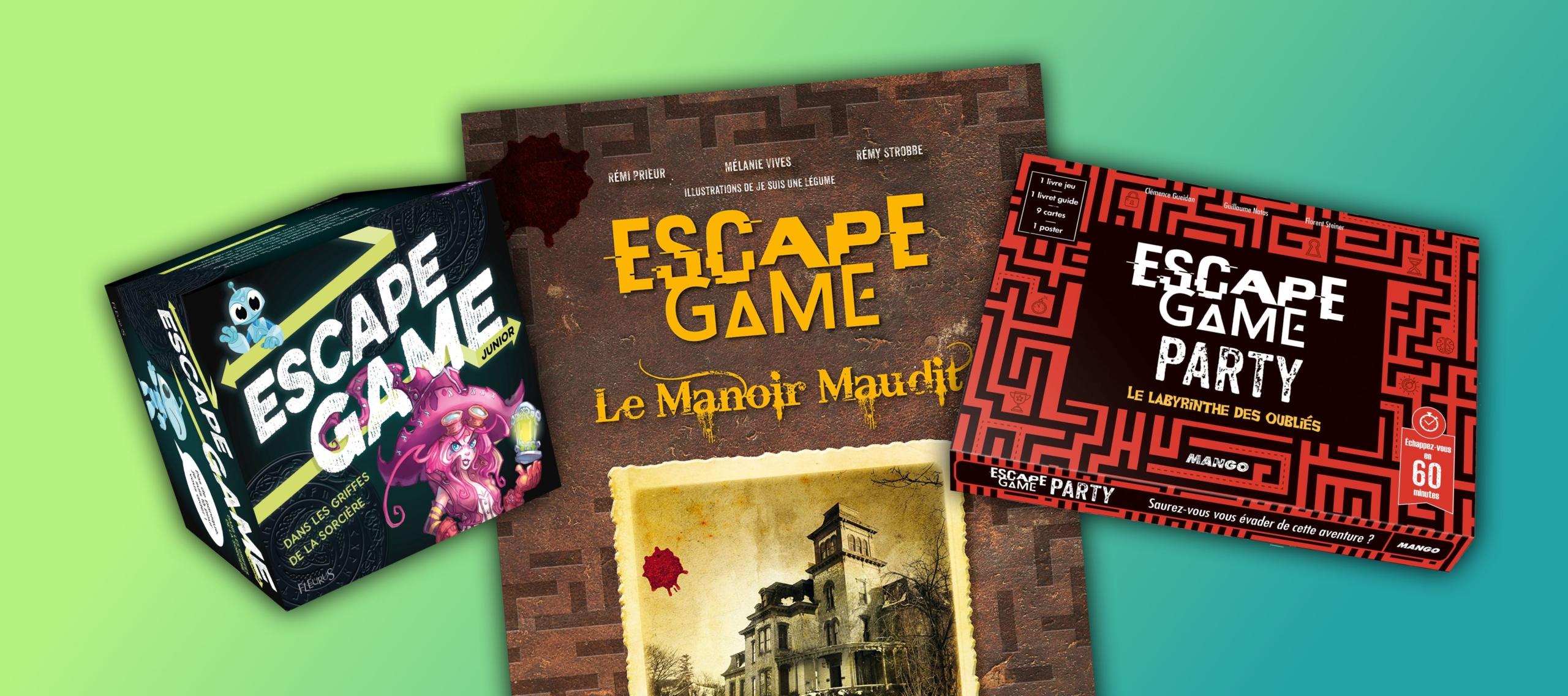 livre et coffret escape game