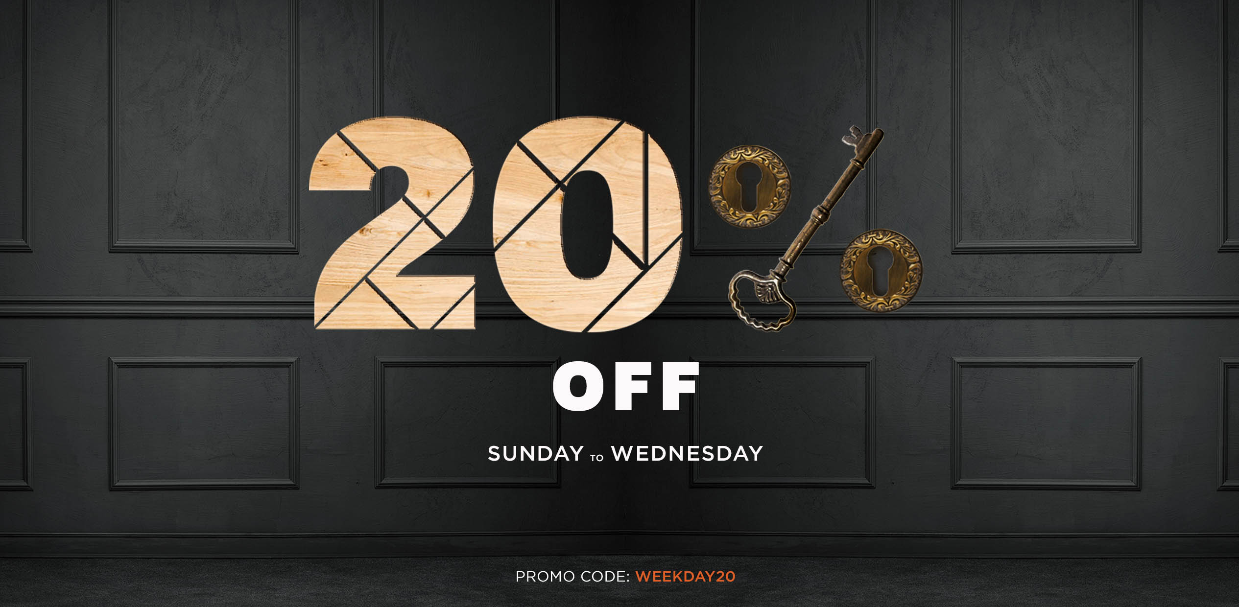 20% off all weekday bookings